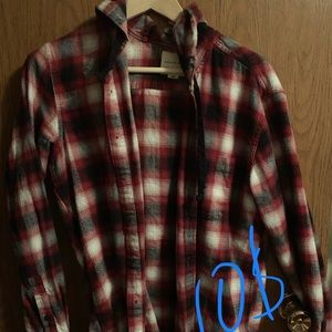American Eagle Red Plaid Flannel